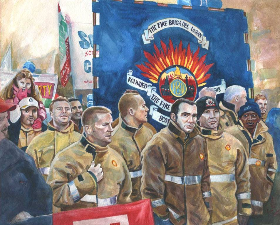 Inited FBU march & rally painting