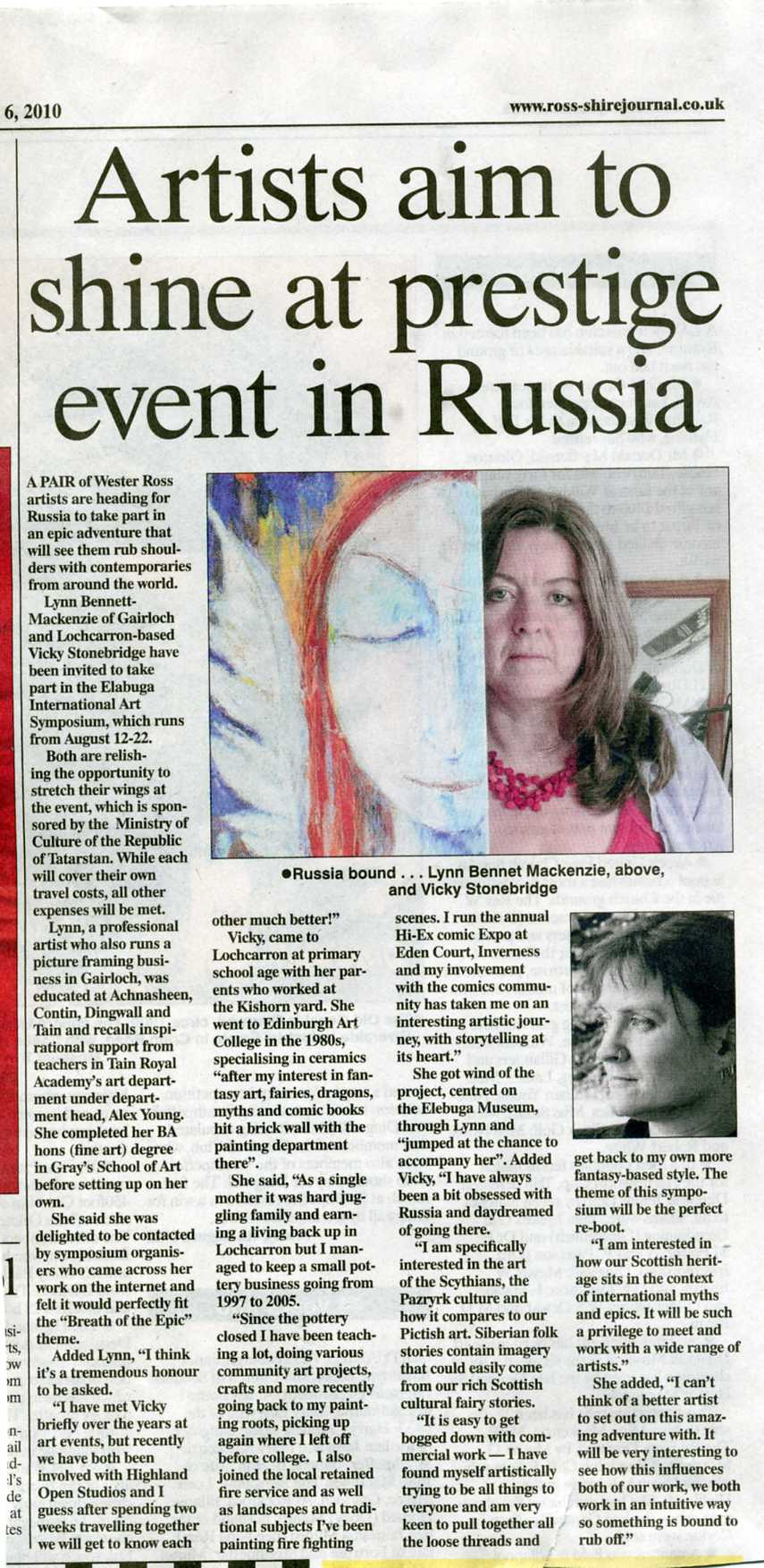 Ross shire Journal before russian trip article